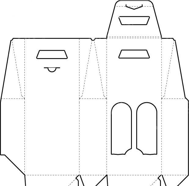 包装结构展开图矢量图_包装设计图片