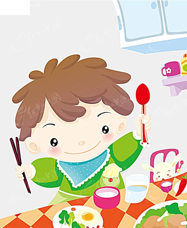 娃娃自己吃饭AI素材免费下载 编号1599 红动网