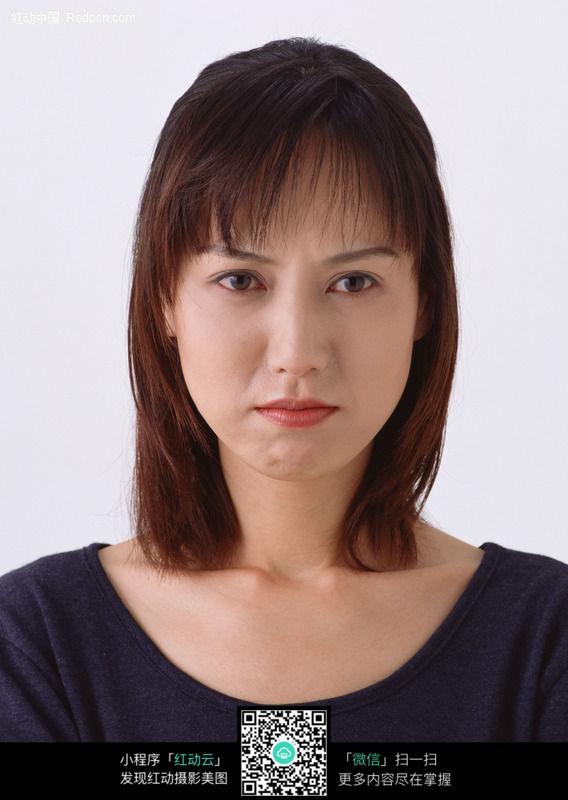 美女面部表情 神情图片 女性女人图片