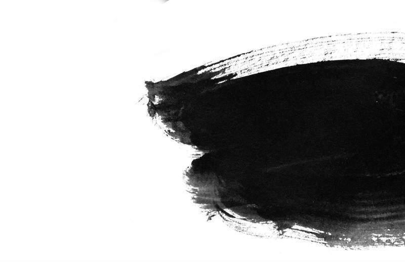 笔刷墨迹 韩国黑白水墨笔刷 041