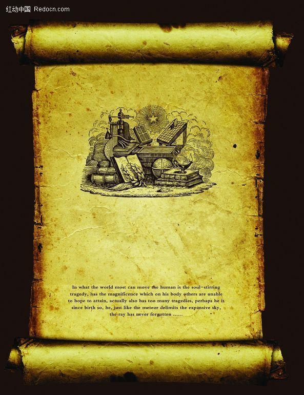 版画卷轴图片