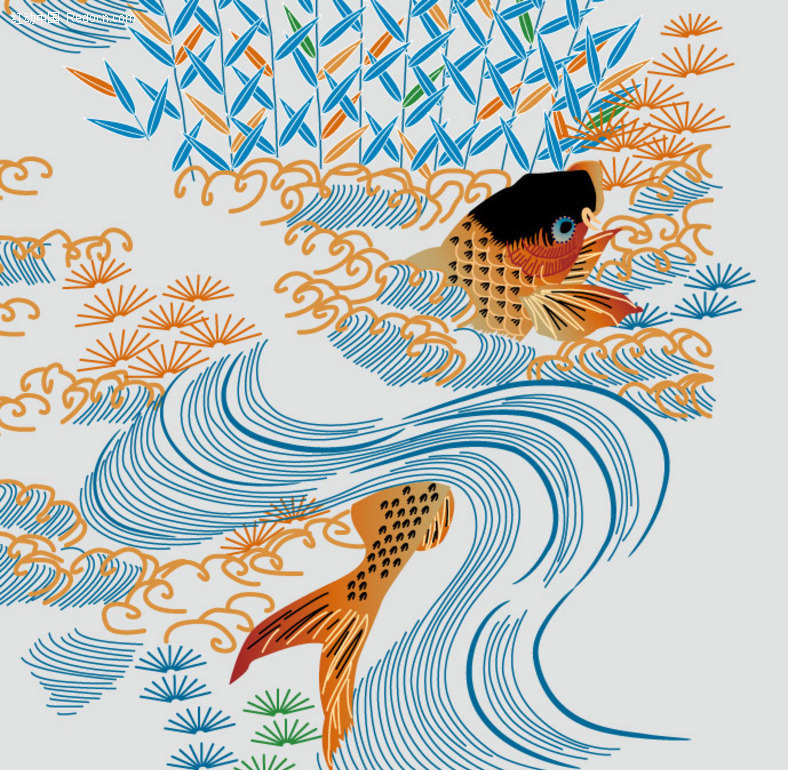 鱼矢量图_水中动物