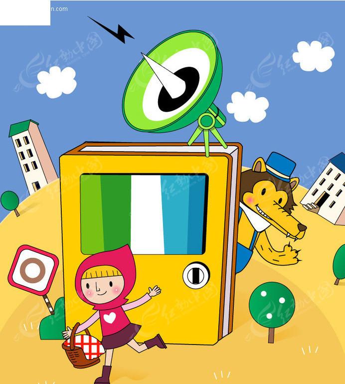 动物跳伞卡通画 幼儿卡通画册封面 太空旅行 儿童飞船卡通画 儿童卡通