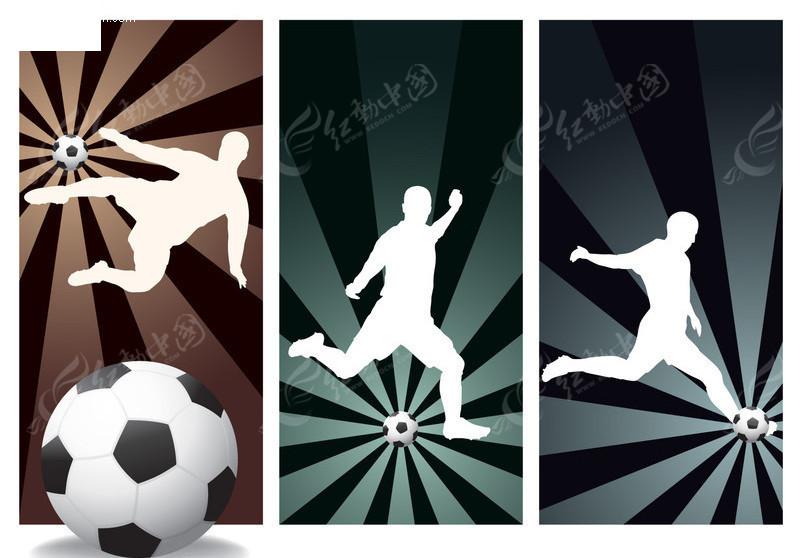 足球运动矢量图_体育运动
