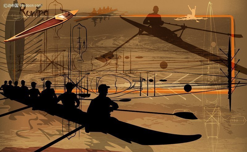 抽象体育运动图片-多人皮划艇v图片电子竞技道具商城图片