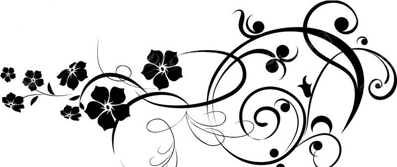 黑白花纹花边-024