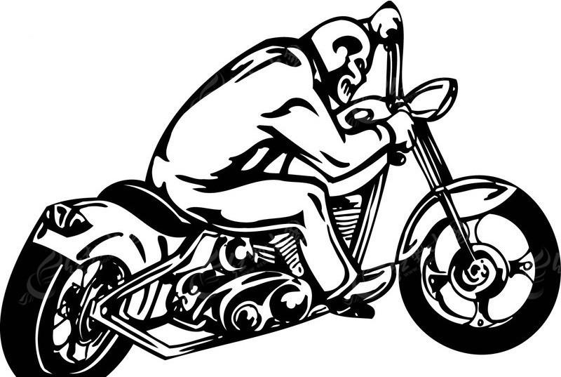 摩托车(黑白线描)-65