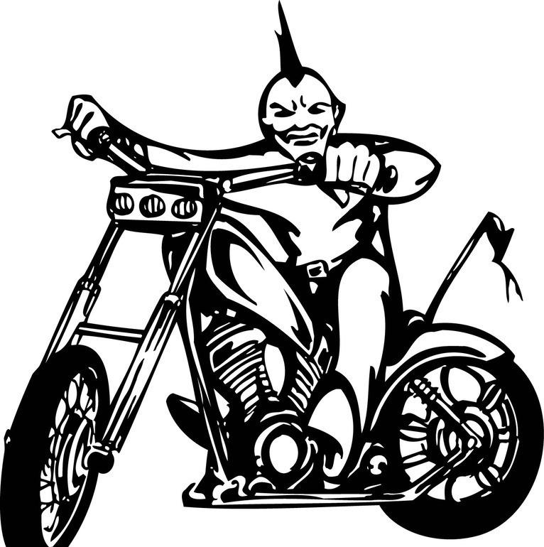 摩托车(黑白线描)-70