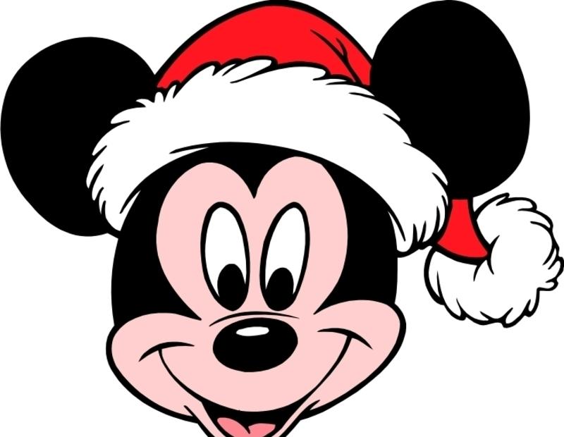 米老鼠-米奇带圣诞帽矢量图_卡通形象