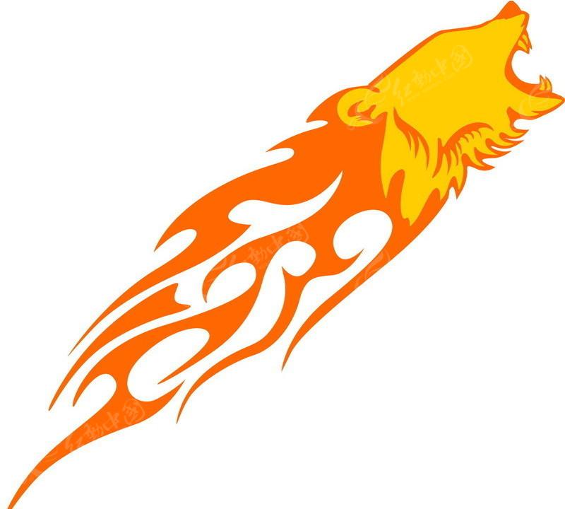 怒吼的火焰老虎头像