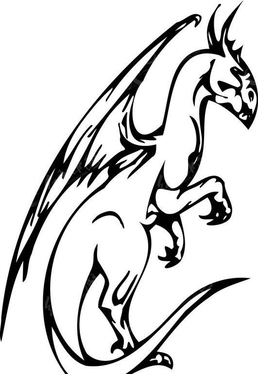 恐龙-054矢量图_陆地动物