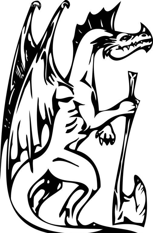 恐龙-016矢量图_陆地动物