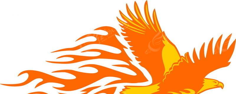 展翅高飞的火焰雕