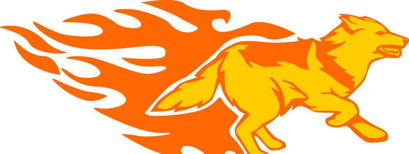 奔跑的火焰狼_1; 动物火焰; 奔跑的火焰狼_1设计图片
