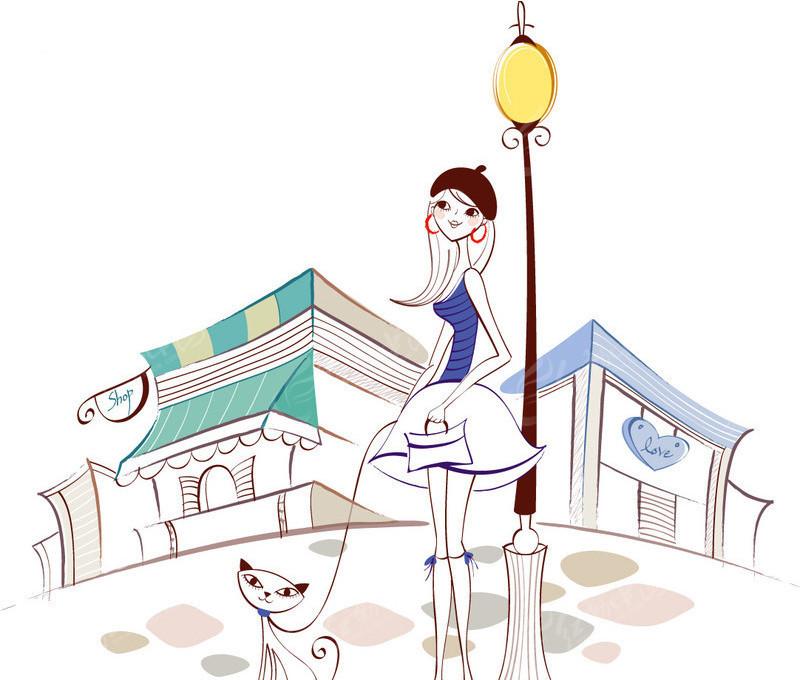 遛狗的女人