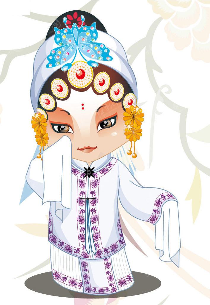 矢量京剧人物穆桂英