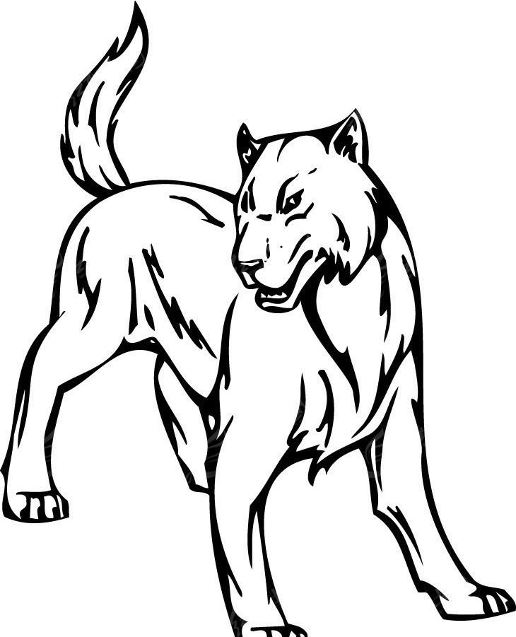 手绘动漫素材狼