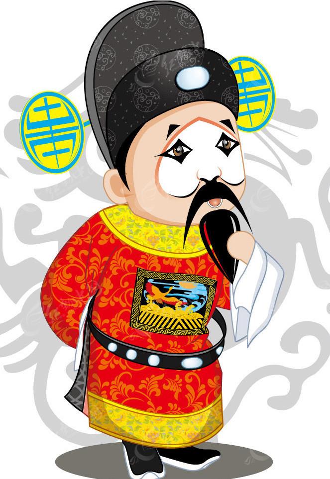 京剧角色卡通画像