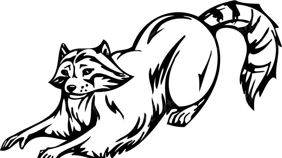 夸大的手绘狐狸纹身