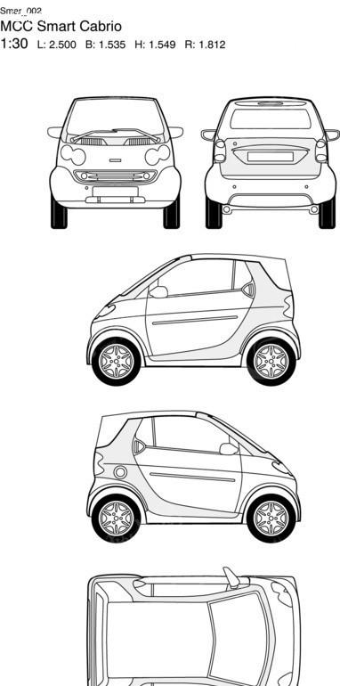 奔驰smart汽车2图片