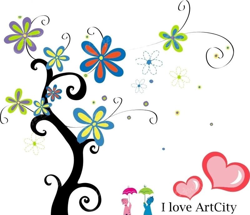 爱心树简笔画_幼儿园爱心树图片