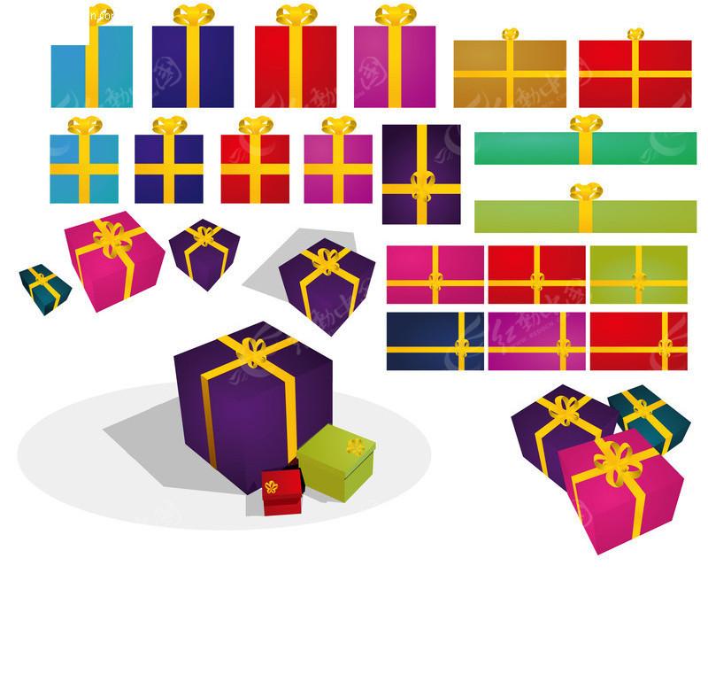 礼物盒子AI素材免费下载 编号77093 红动网