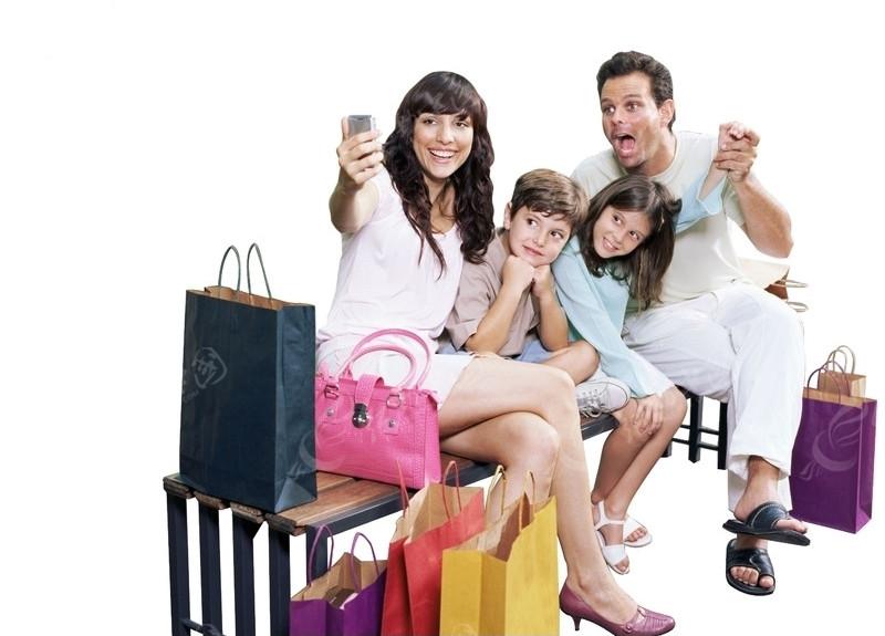 素材 购物/购物一家人和睦一家人快乐购物一家四口 人物素材 人物图片...