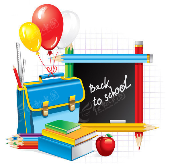 书包和铅笔等小学生学习用品