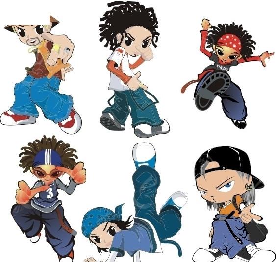 hiphop街舞人物