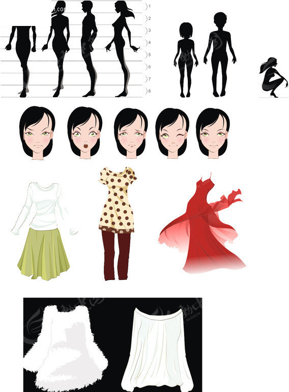 老年女性人体囹�a_免费素材 矢量素材 矢量人物 女性女人 人体剪影  请您分享: 素材描述