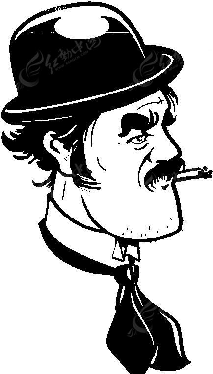 抽烟的男人图片