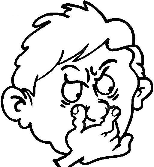 不完美鼻子图片手绘