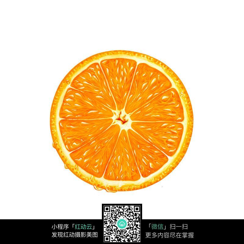 水果 果实 特写 写实 手绘 橙子 orange  摄影图片