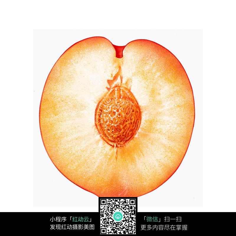 免费素材 图片素材 餐饮美食 水果蔬菜 切开一半的桃子图片