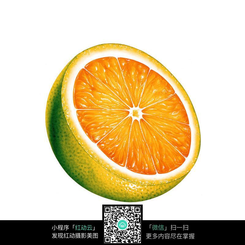 橘子手绘图片