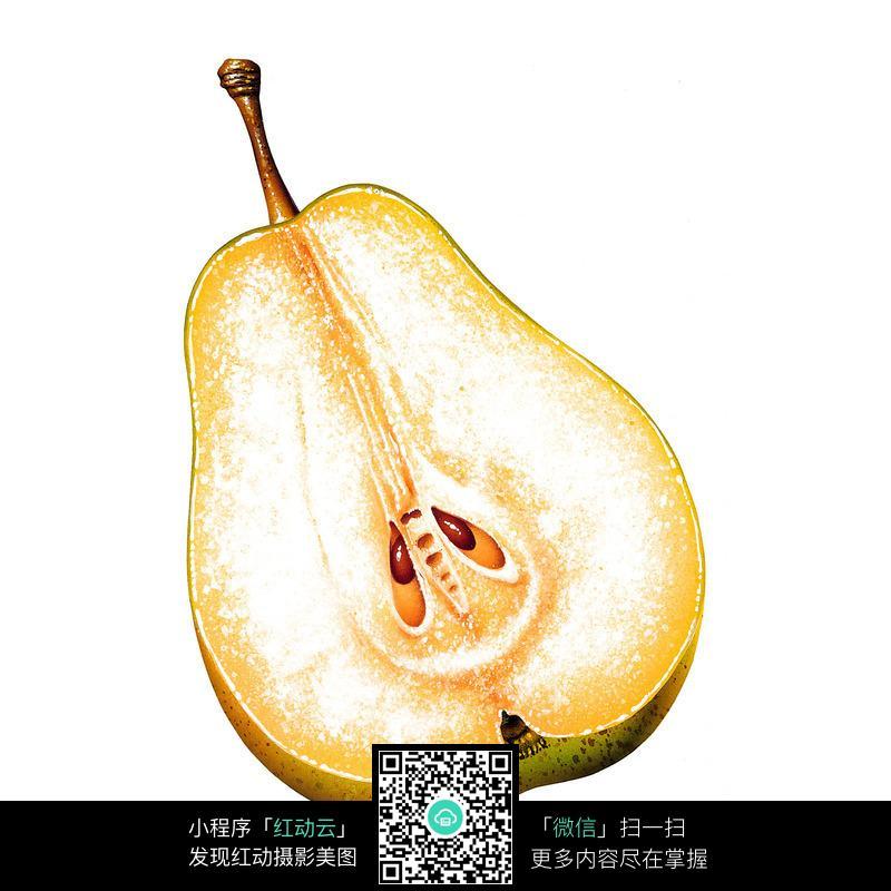切开的梨子图片_水果蔬菜图片图片