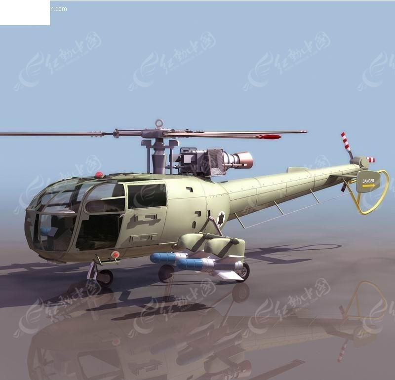一组俄罗斯直升机模型К