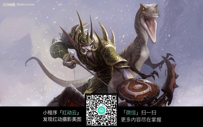 魔兽世界人物军装巨魔猎人和宠物图片