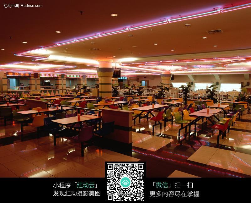 免费素材 图片素材 环境居住 室内设计 快餐餐厅全景图