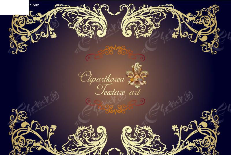 欧式金色花纹边框矢量素材