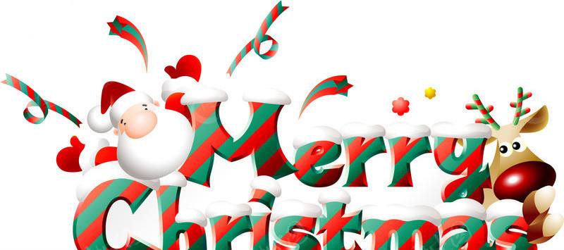 圣诞老人和驯鹿元素矢量图 圣诞节