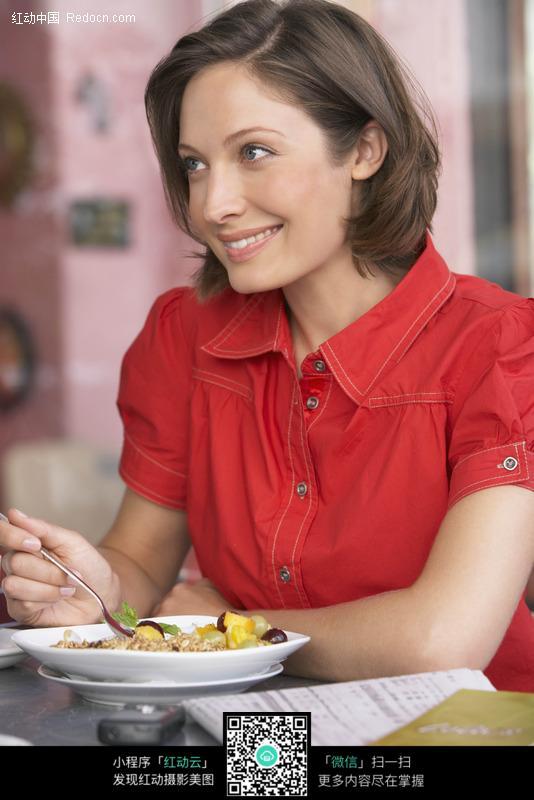 美女吃饭图片 日常生活图片