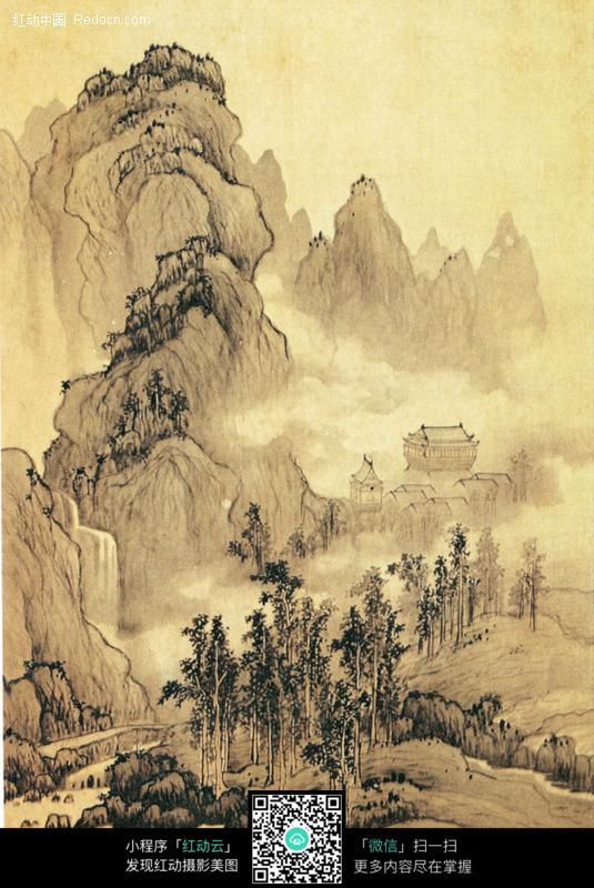 古代山水名画图片_书画文字图片图片