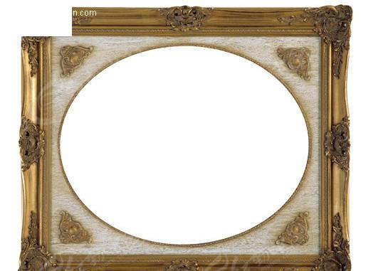 欧式雕花相框 木质边框 边框 相框 psd素材 psd分层素材