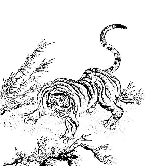 威武霸气的动物的画