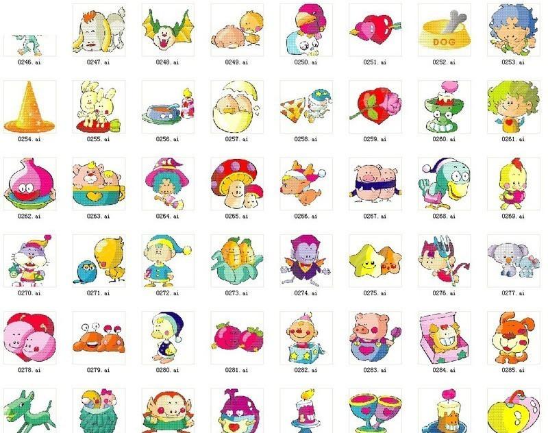 韩国卡通节日人物图