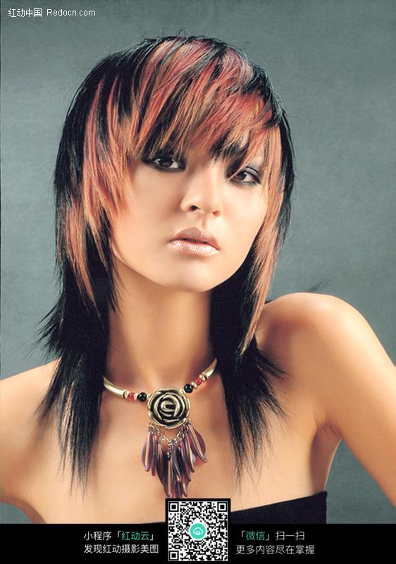 美发发型美女图片 职业人物图片