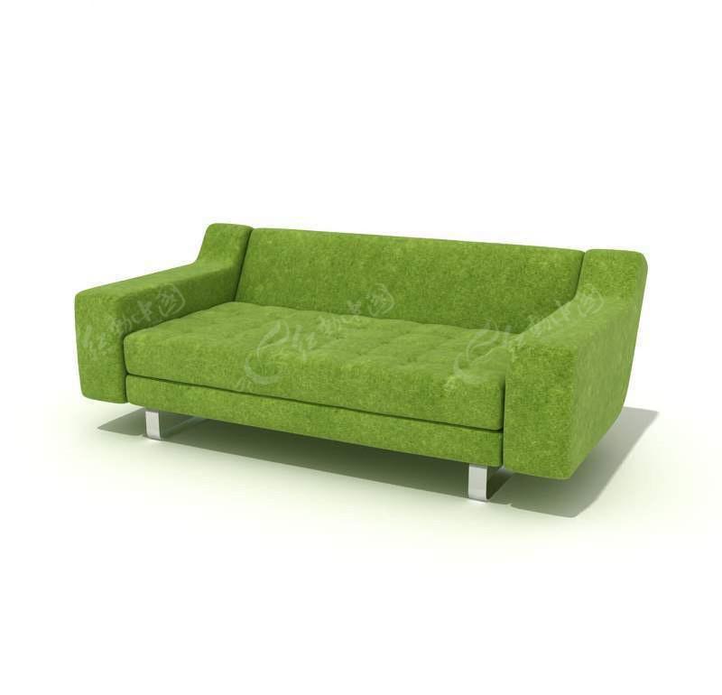 欧式双人沙发3d模型 3d精美双人沙发模型 3d欧式双人沙发模型 3d白色