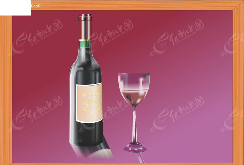 红酒瓶矢量图cdr免费下载