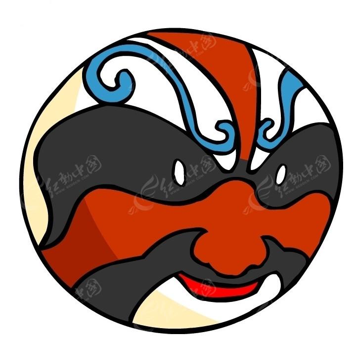 清朝脸谱面具图片